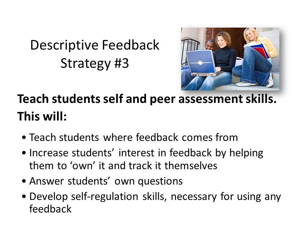 Descriptive Feedback Strategy #3