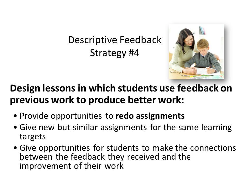 Descriptive Feedback Strategy #4