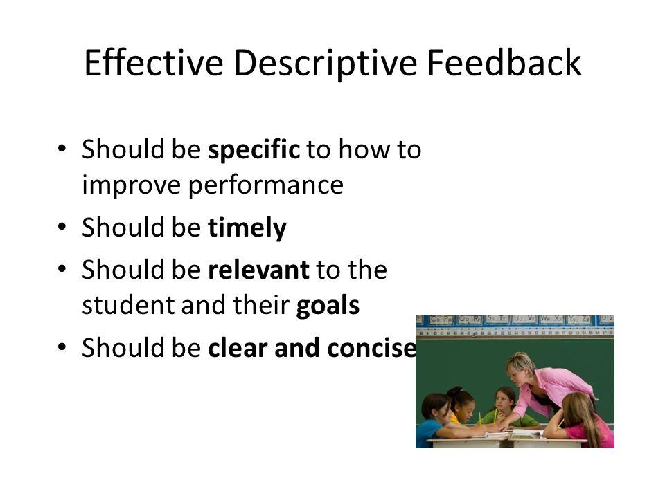 Effective Descriptive Feedback