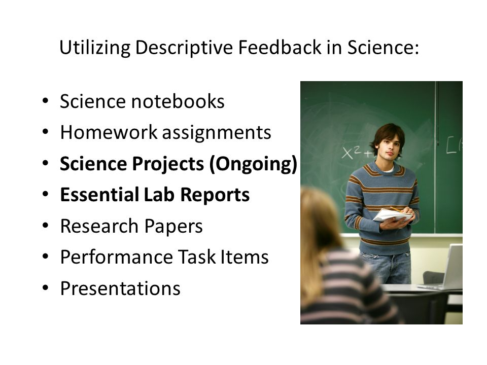 Utilizing Descriptive Feedback in Science: