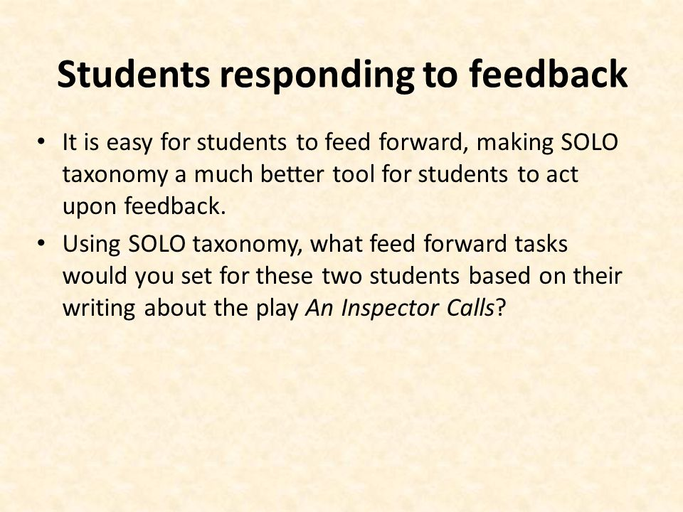 Students responding to feedback