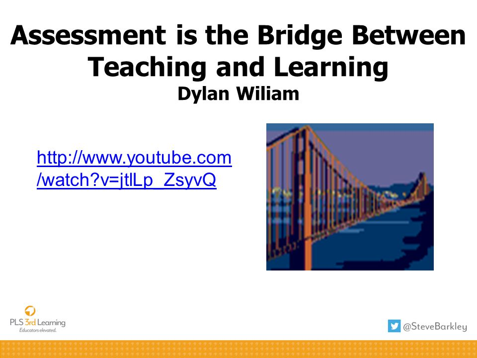 Assessment is the Bridge Between Teaching and Learning Dylan Wiliam
