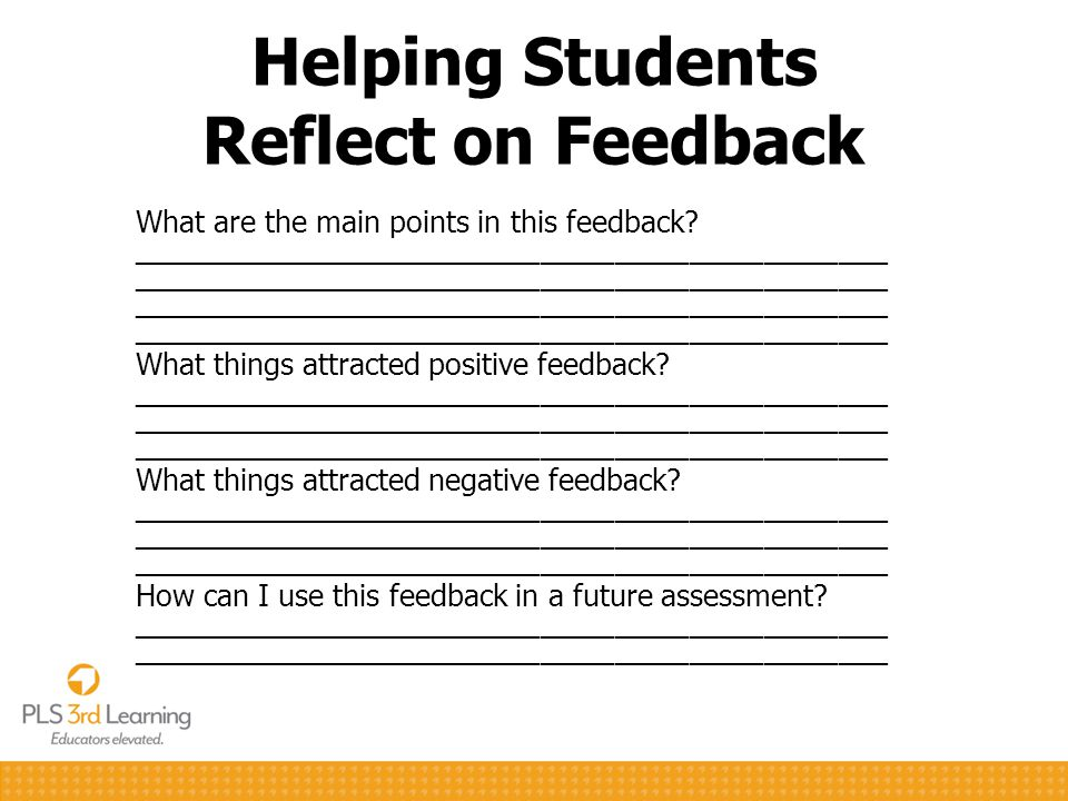 Helping Students Reflect on Feedback