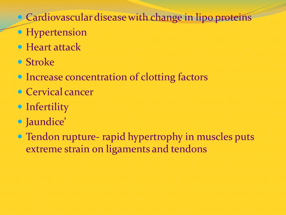 Cardiovascular disease with change in lipo proteins