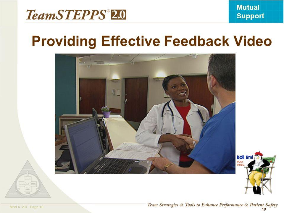 Providing Effective Feedback Video