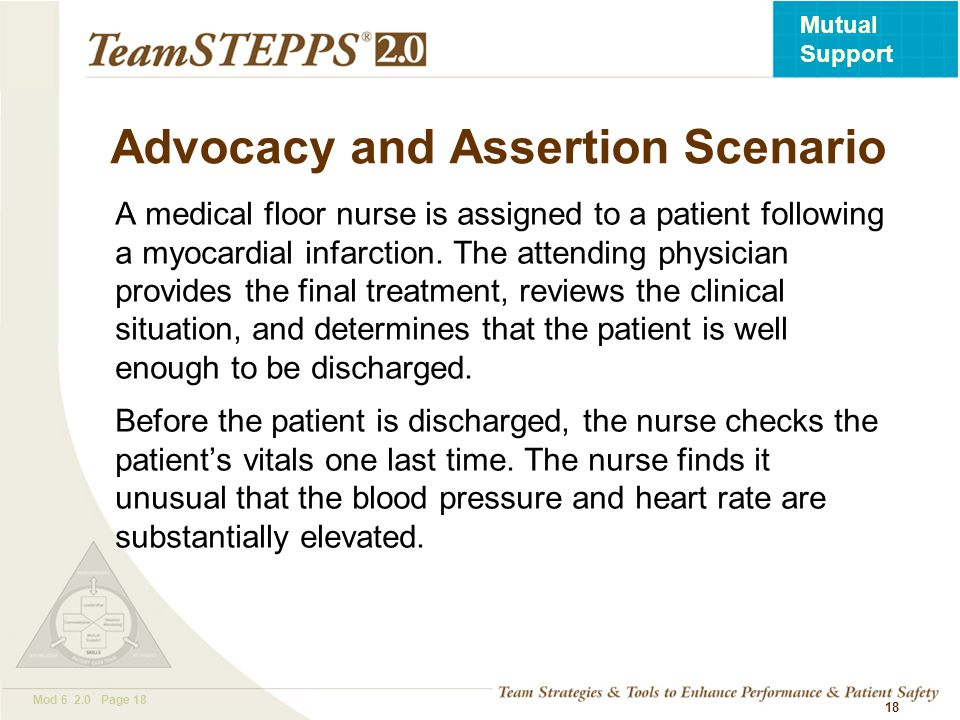 Advocacy and Assertion Scenario