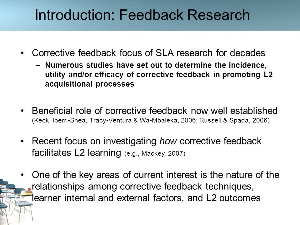 Introduction: Feedback Research