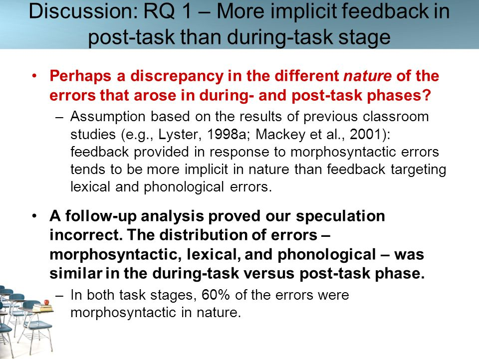 Discussion: RQ 1 – More implicit feedback in post-task than during-task stage