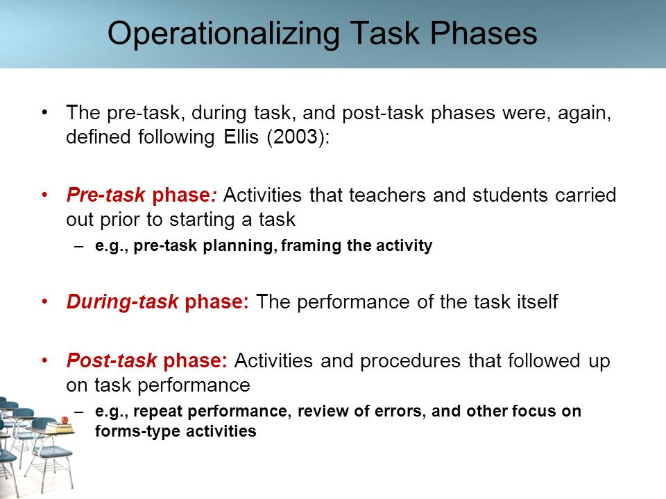 Operationalizing Task Phases