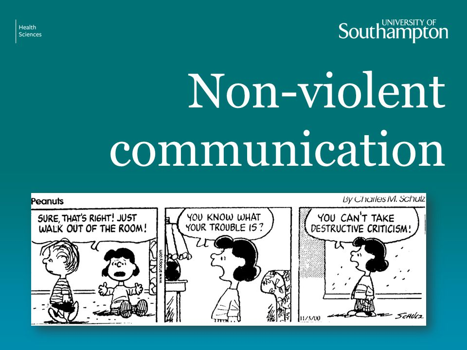Non-violent communication
