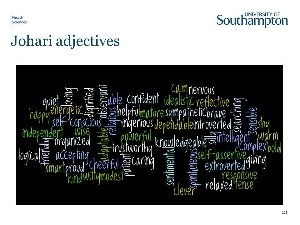 Johari adjectives