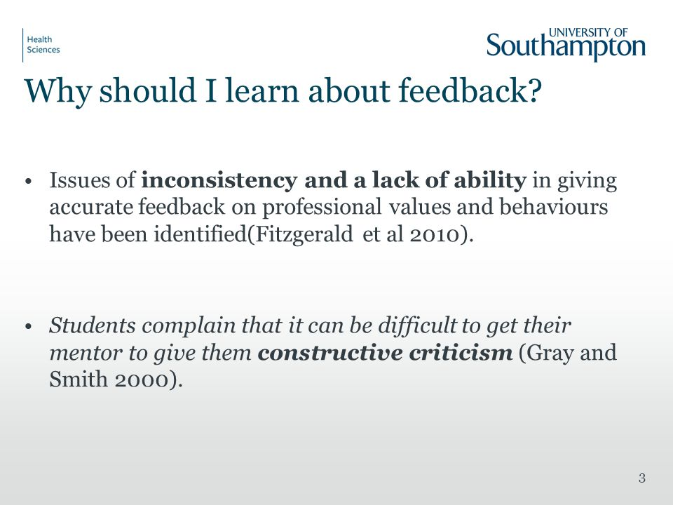 Why should I learn about feedback