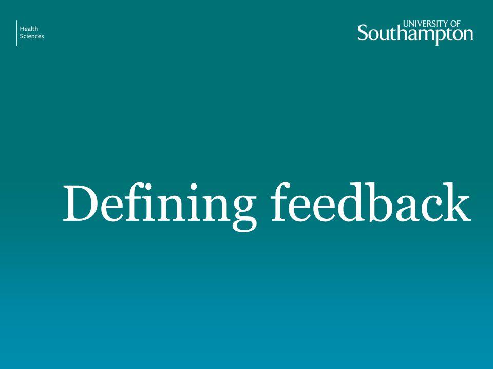 Defining feedback
