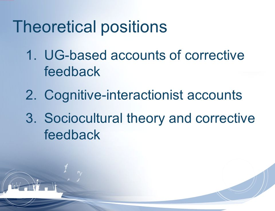 Theoretical positions