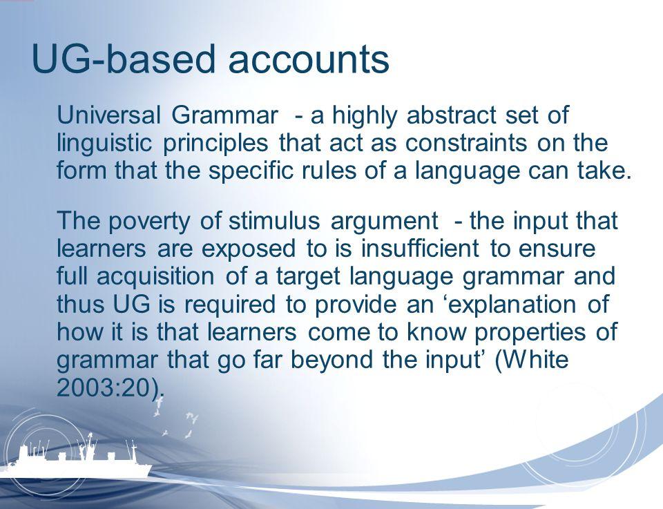 UG-based accounts