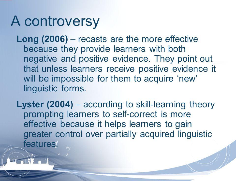 A controversy