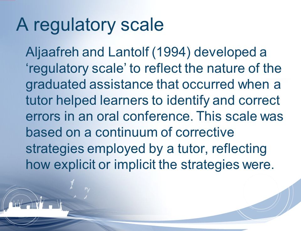 A regulatory scale