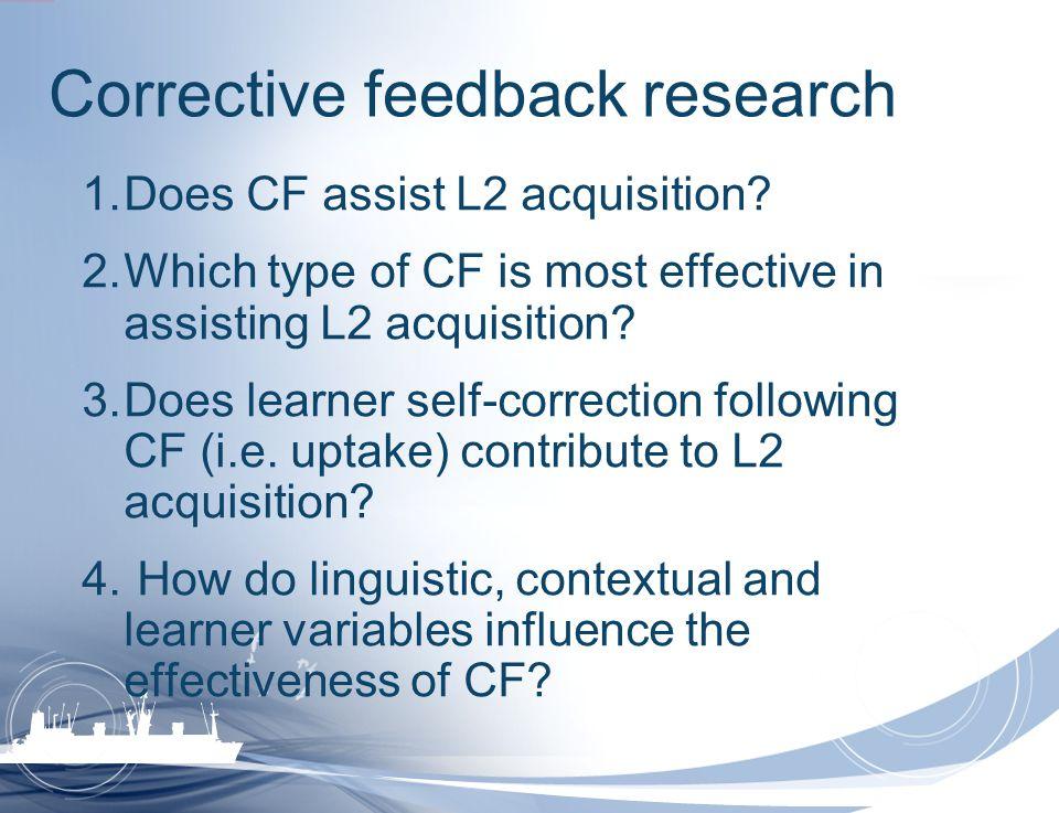 Corrective feedback research