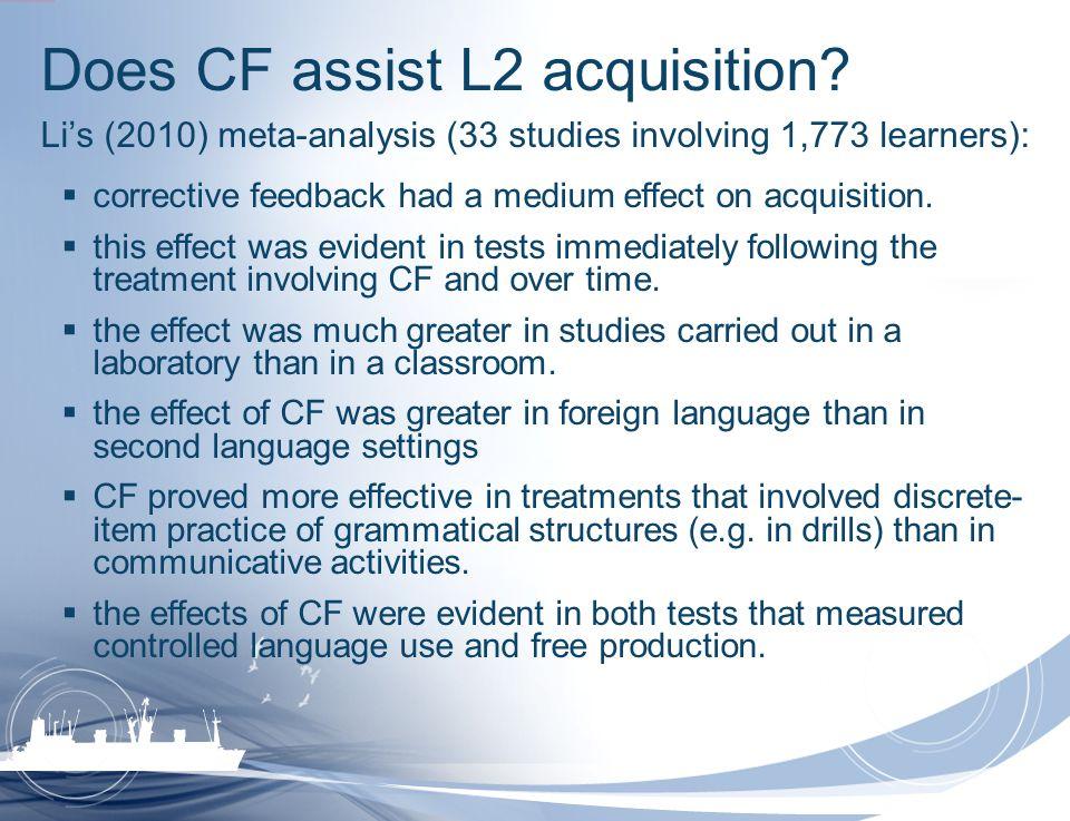 Does CF assist L2 acquisition
