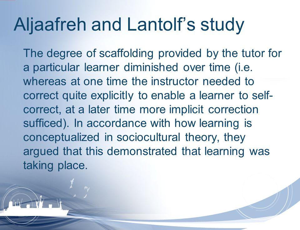 Aljaafreh and Lantolf's study
