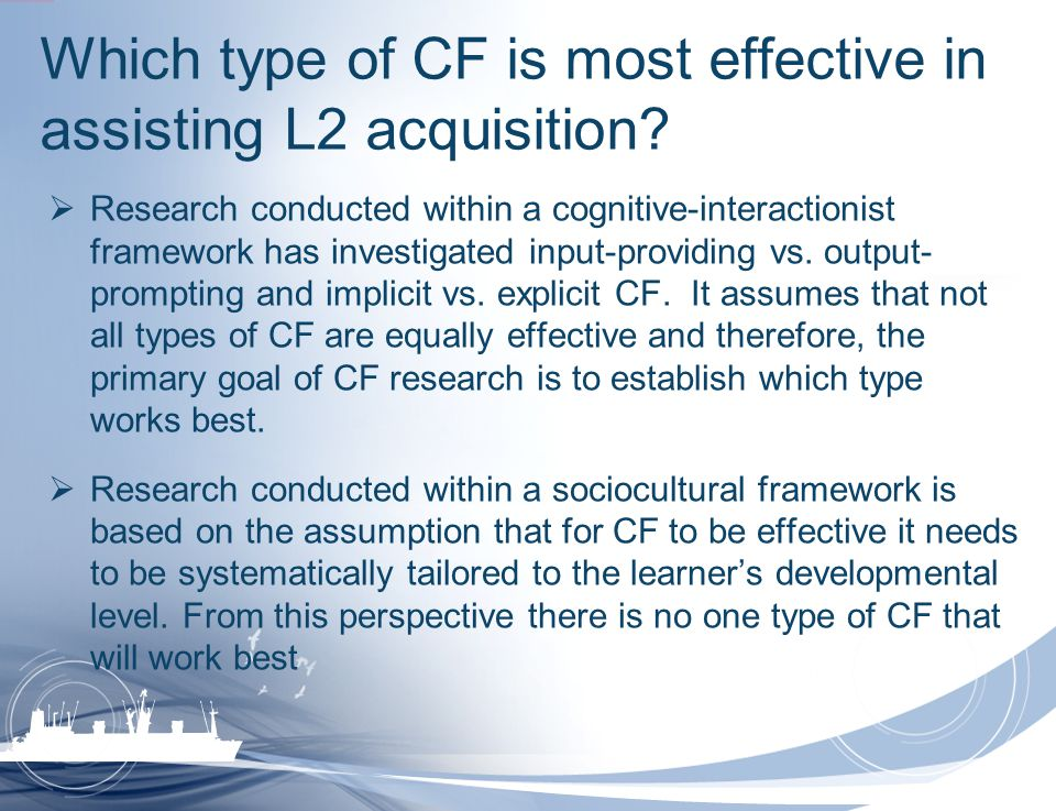 Which type of CF is most effective in assisting L2 acquisition