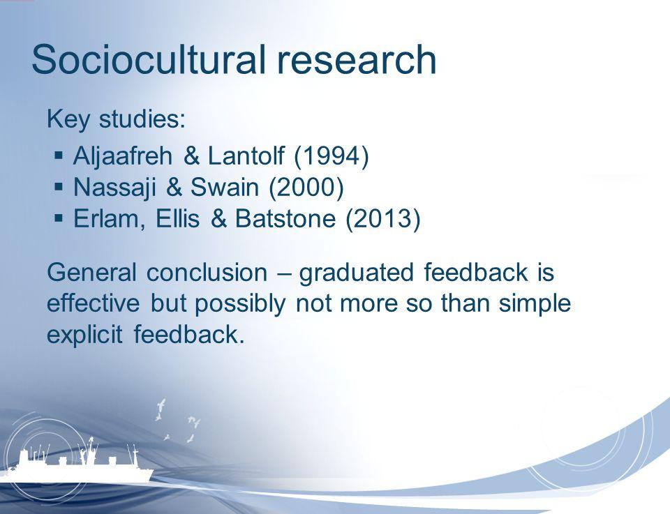 Sociocultural research