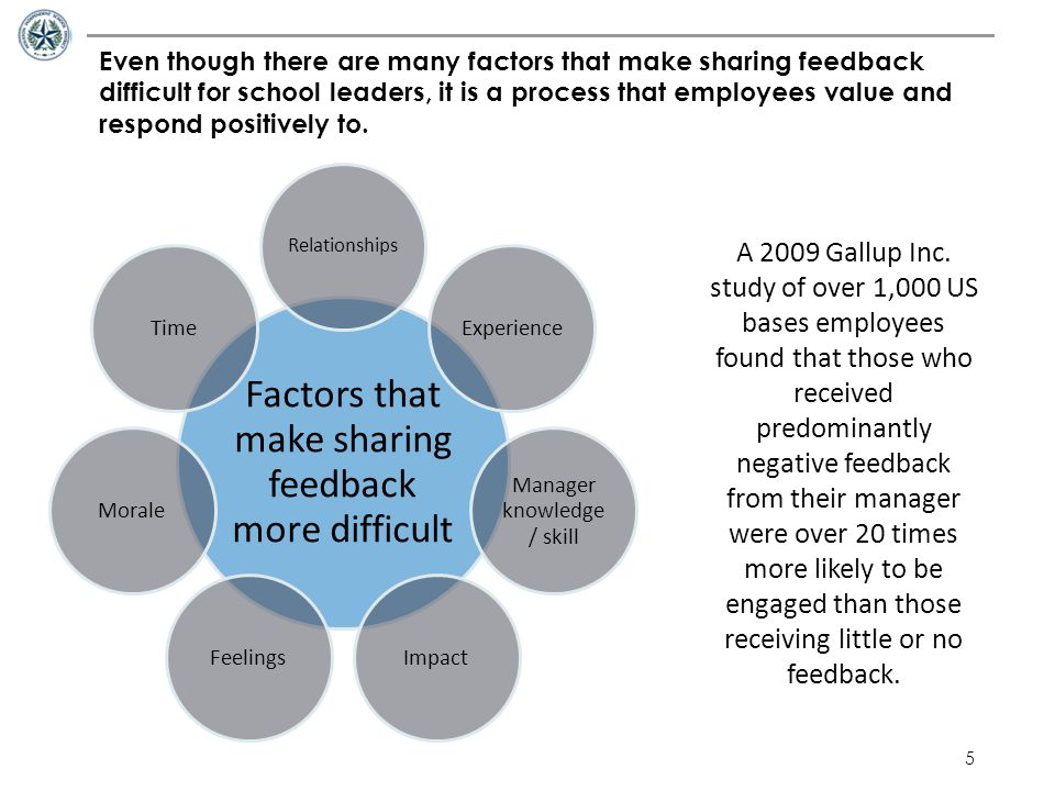 Factors that make sharing feedback more difficult