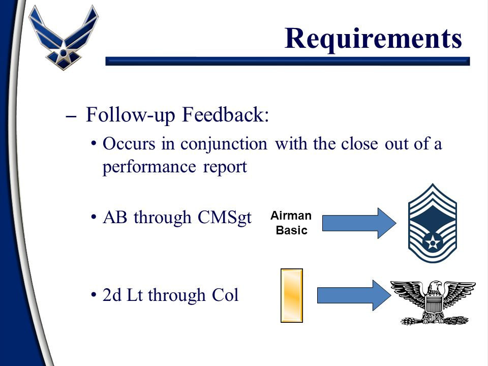 Requirements Follow-up Feedback: