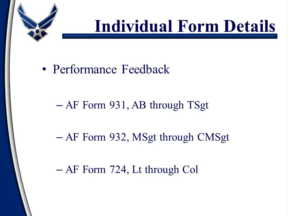 Individual Form Details