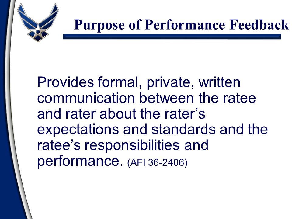 Purpose of Performance Feedback