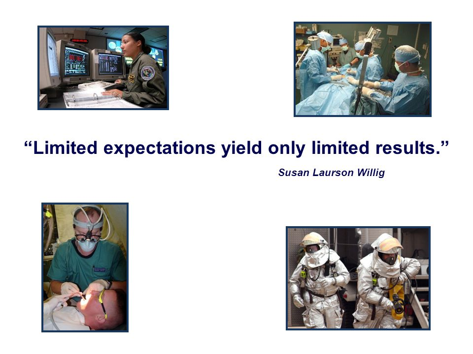 Limited expectations yield only limited results.
