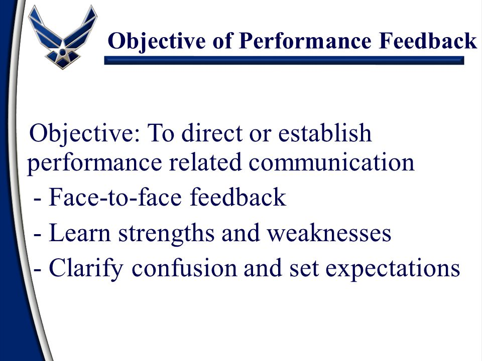 Objective of Performance Feedback