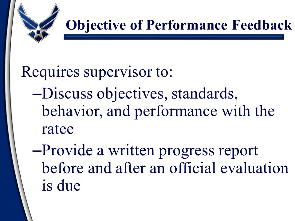 Objective of Performance Feedback