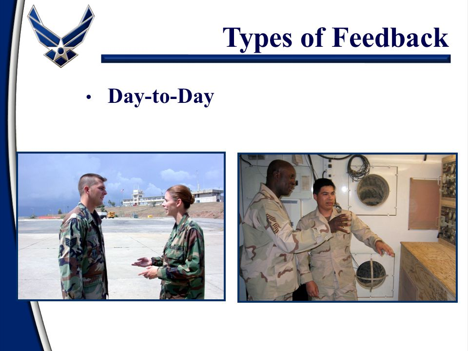 Types of Feedback Day-to-Day