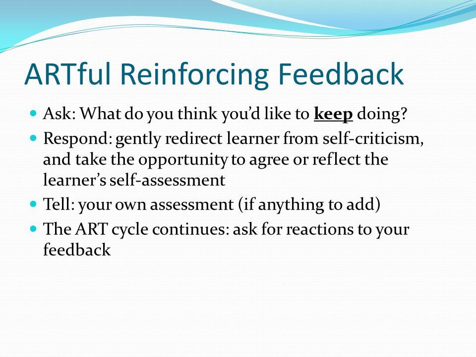 ARTful Reinforcing Feedback