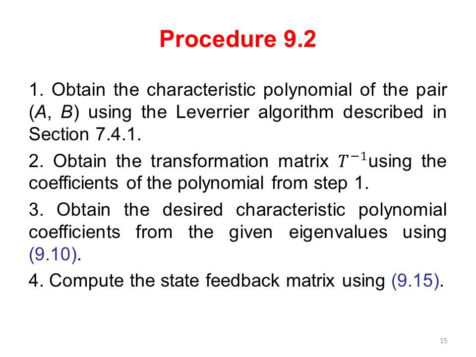 Procedure 9.2