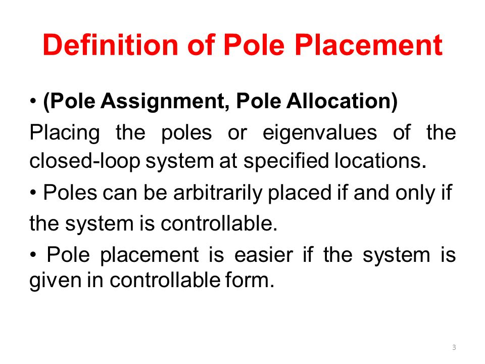 Definition of Pole Placement