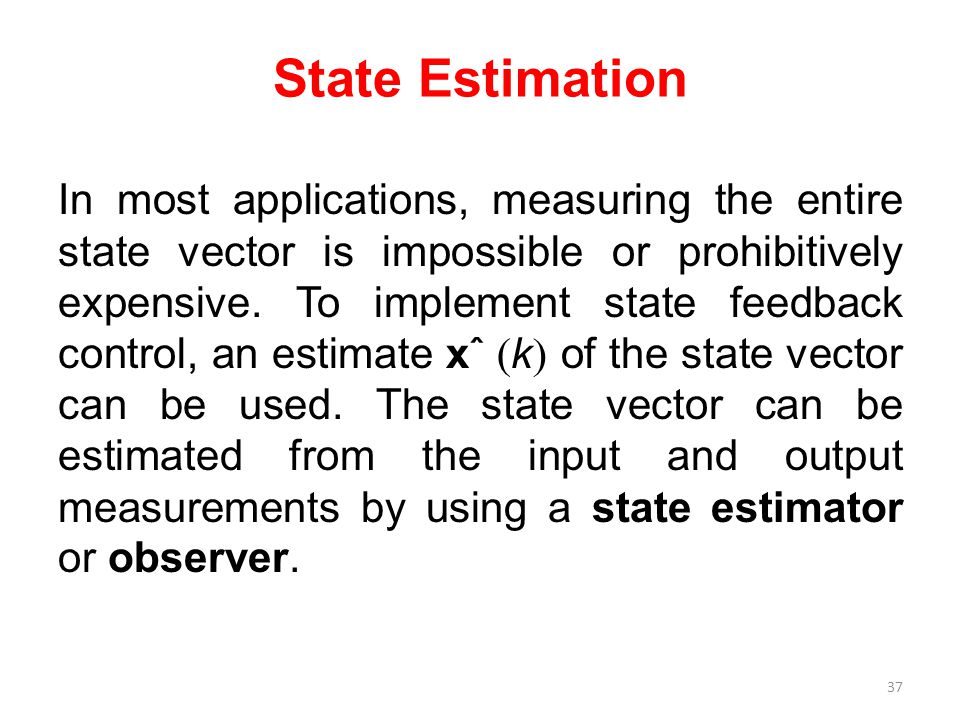 State Estimation