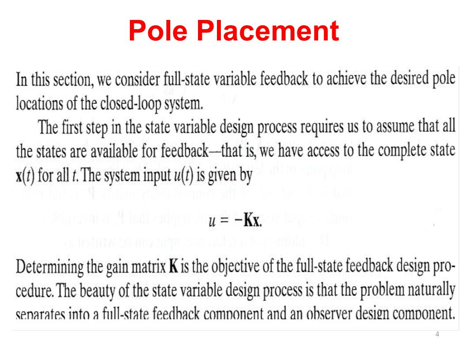 Pole Placement
