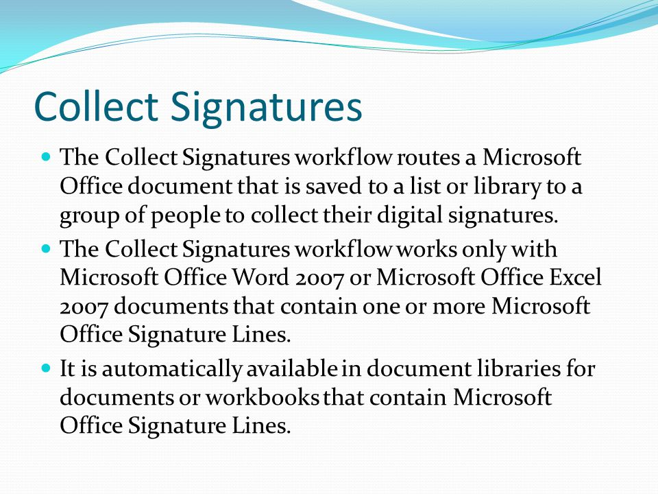 Collect Signatures