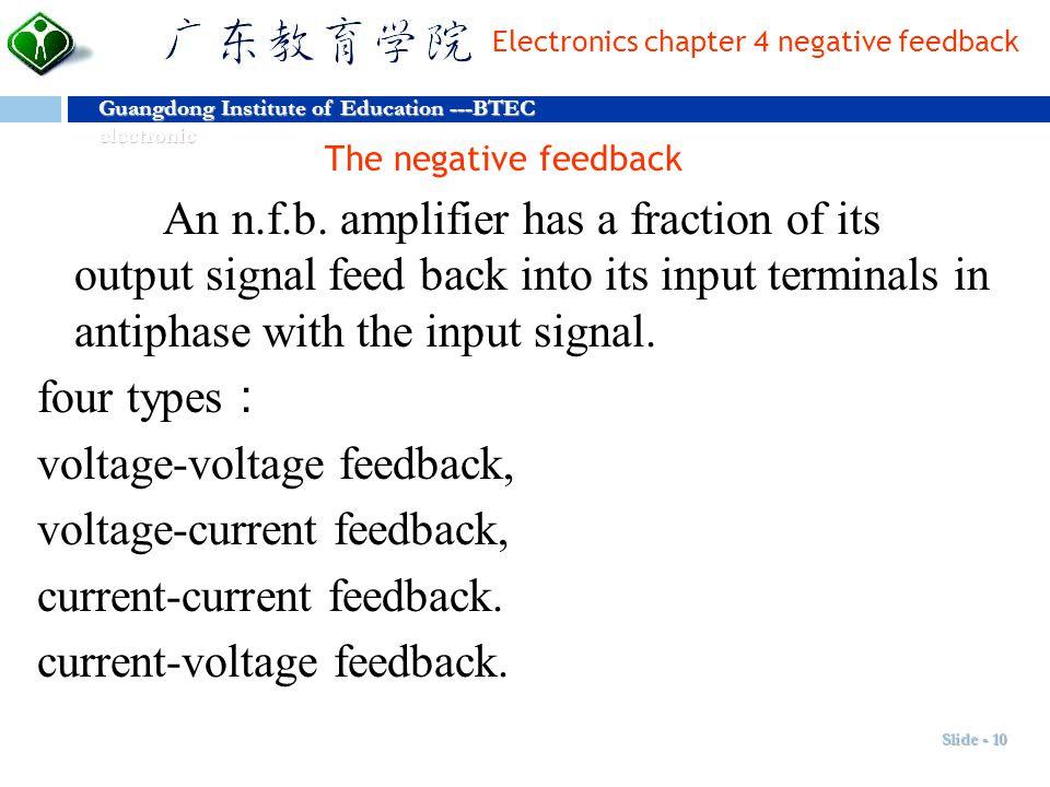 voltage-voltage feedback, voltage-current feedback,
