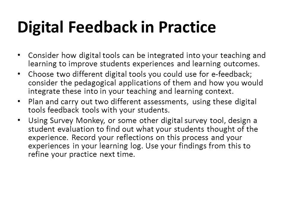 Digital Feedback in Practice