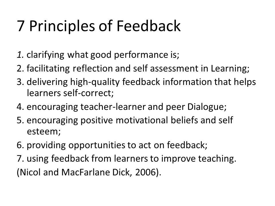 7 Principles of Feedback