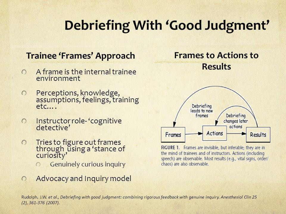 Debriefing With 'Good Judgment'