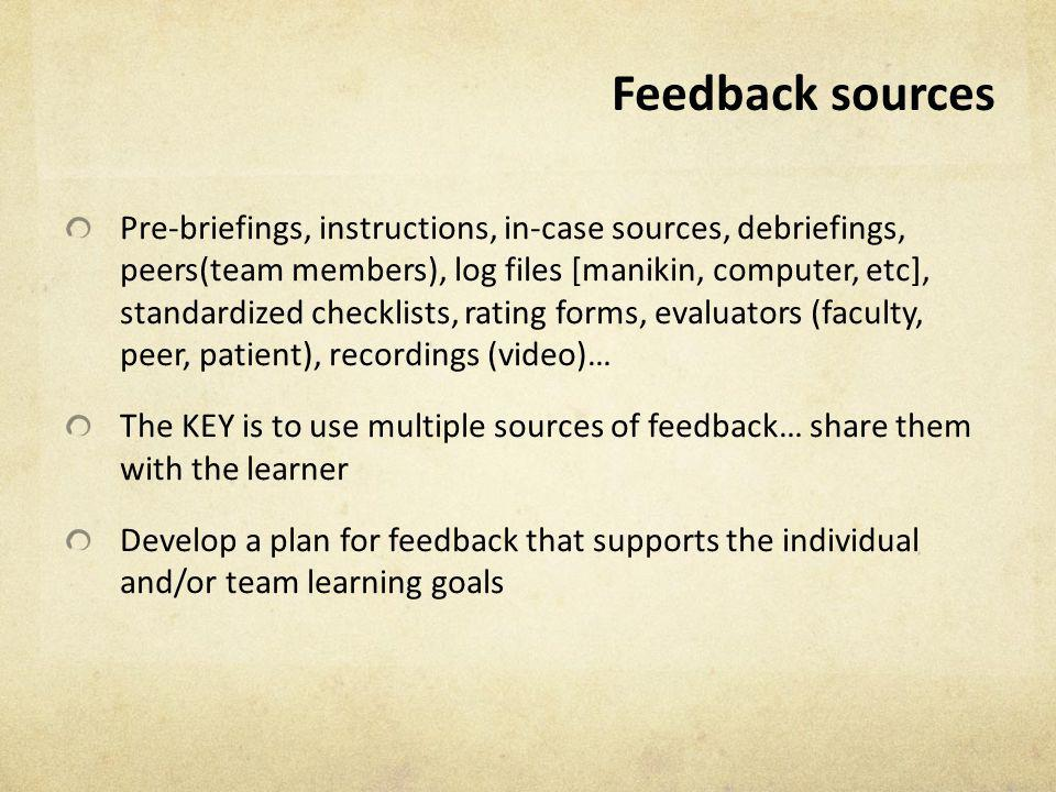 Feedback sources