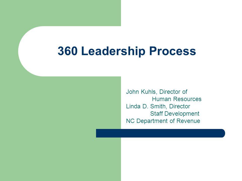 360 Leadership Process John Kuhls, Director of Human Resources