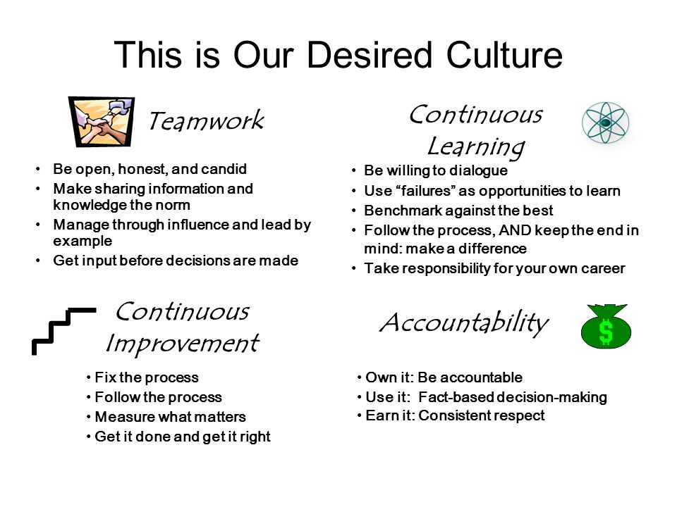 This is Our Desired Culture