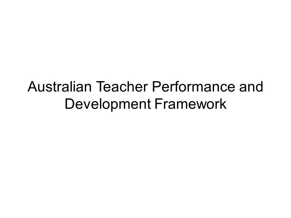 Australian Teacher Performance and Development Framework