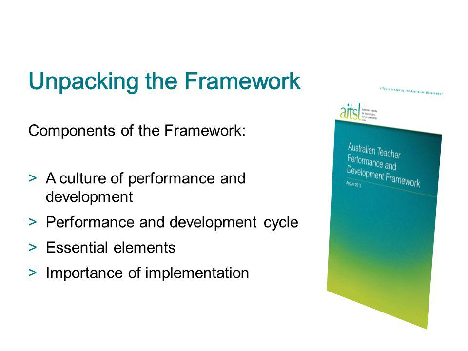 Unpacking the Framework