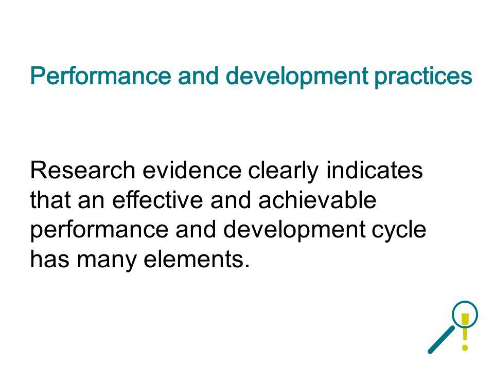Performance and development practices